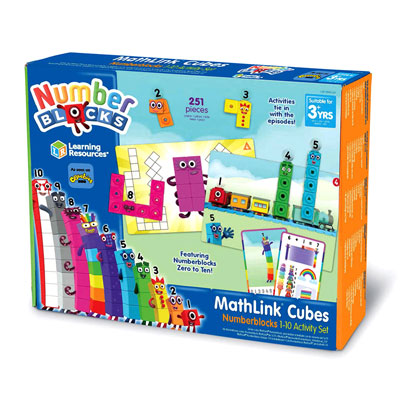 MathLink Cubes Numberblocks 1-10 Activity Set - by Learning Resources - LSP0949-UK