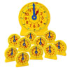 24-Hour Student NumberLine Classroom Set - 1x Demonstration Clock and 12x Student Clocks